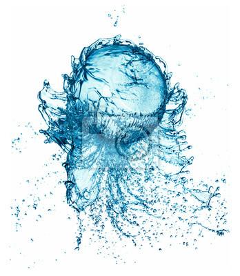 water splash ball wyizolowanych