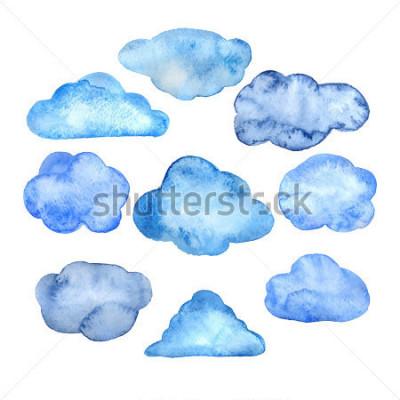 Naklejka Watercolor clouds set
