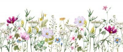 Naklejka Watercolor floral pattern
