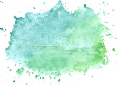 Naklejka watercolor paint stains on white background
