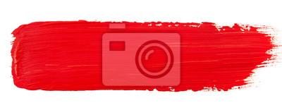 Naklejka Watercolor red paint
