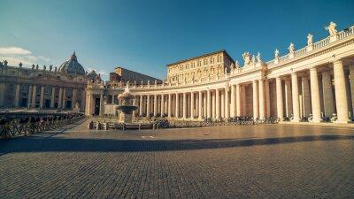 Naklejka Watykan i Rzym, Włochy: Plac Świętego Piotra