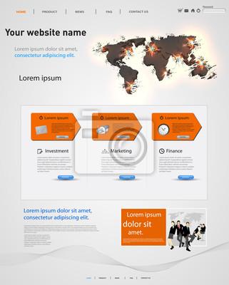 web design szablon wektora, elementy wybuchowe ziem