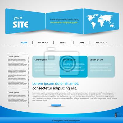 web design vector niebieski szablon, łatwe do edycji
