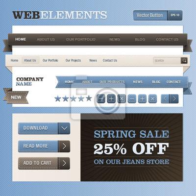 Web Design Vector ramki