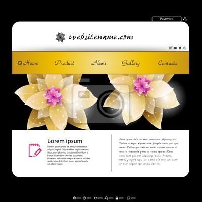web site design template, kwiatów projektowania