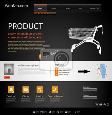 Website Design Elements Web Template
