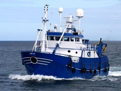 Naklejka Wędkarstwo 15b statków, statków rybackich trwa do portu wyładunku ryb.