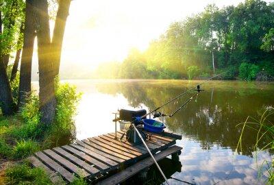 Naklejka Wędkowanie na rzece