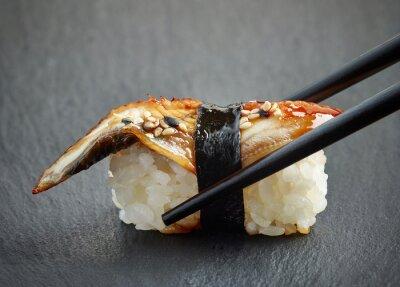 Naklejka Węgorz sushi