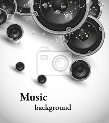 Wektor abstrakcyjna konstrukcja głośników muzyka