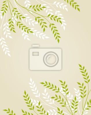 Wektor abstrakcyjna kwiatu tła z liśćmi