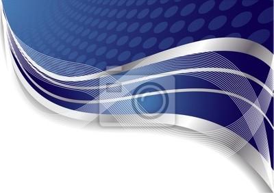 Wektor abstrakcyjna niebieskie tło z okręgu
