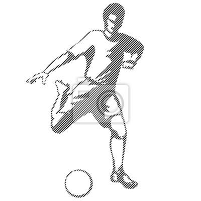 Wektor abstrakcyjna piłka nożna gracz kopnąć piłkę