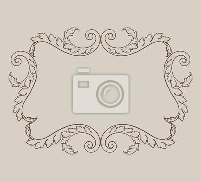 Wektor archiwalne barokowy ramki granicy