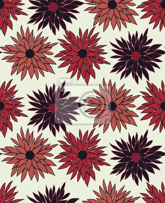 Wektor bez szwu kwiatowy wzór z chryzantemy