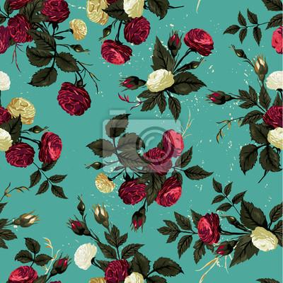 Wektor bez szwu kwiatowy wzór z różami