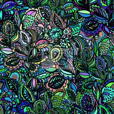 Wektor bez szwu tekstury z kwiatów abstrakcyjnych