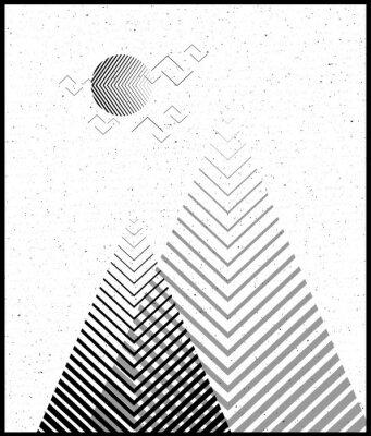 Naklejka Wektor geometryczne tło trójkąta, abstrakcyjne mountains.Conceptual tle z mountains.Flat projekt, z minimalnymi elementami.Użyj do karty, plakat, broszura, banner.Black i biały Wnętrze druku.