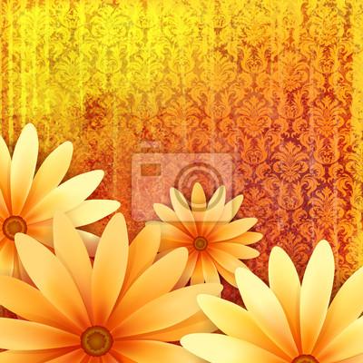 wektor kwiatowy ozdobny grunge