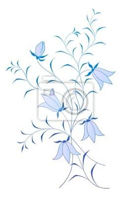 Wektor kwiatowy wzór z blubells