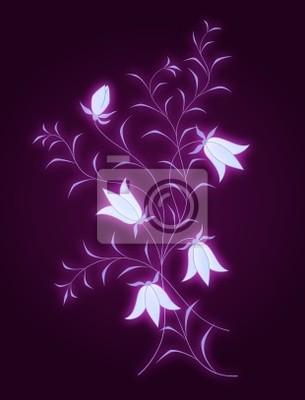 Wektor kwiatowy wzór z dzwonki