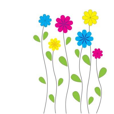 Naklejka Wektor kwiatu tła z serca