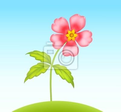 Wektor ładny mały kwiat