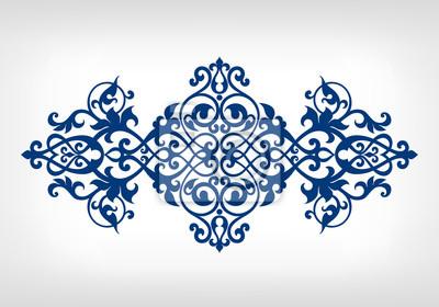 Wektor ornament wzór ramka kaligrafii