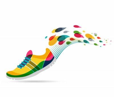 Naklejka Wektor Plakat - bieganie i sportu