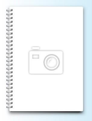 Wektor puste notebook na białym tle