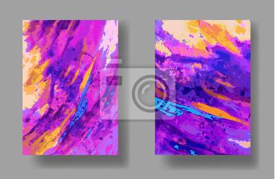 wektor, uniwersalna karta artystycznej. Hand wyciągnąć tekstury. Kolorowe projektowania plakatu, zaproszenia, afisz, broszury, ulotki. akwarela