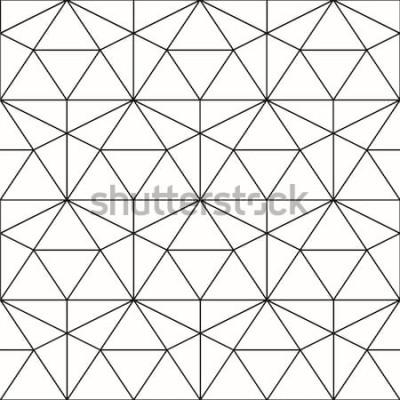 Naklejka Wektor wzór. Geometryczne tło z rombem i węzłami. Abstrakcjonistyczny geometryczny wzór. Szara tekstura. Bezszwowy geometryczny wzór.