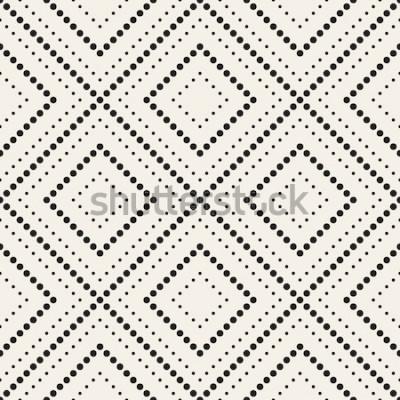 Naklejka Wektor wzór Nowoczesna stylowa tekstura. Powtarzające się geometryczne płytki z kropkowanym rombem