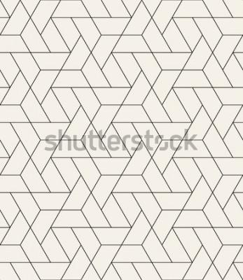 Naklejka Wektor wzór Nowoczesna stylowa tekstura z monochromatyczną kratką. Powtarzająca się geometryczna trójkątna siatka. Prosty projekt graficzny. Modna hipster świętej geometrii.