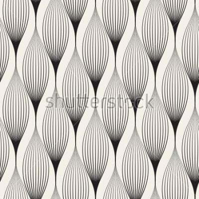 Naklejka Wektor wzór. Streszczenie stylowe tło z stylizowane płatki