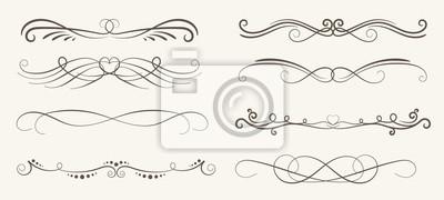 Naklejka Wektor zestaw elementów dekoracyjnych, ramki i linii stylu vintage