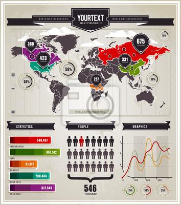 Wektor zestaw infografiki elementów.
