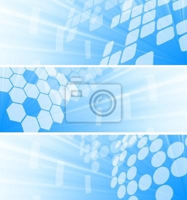 Wektor zestaw trzech tech transparenty