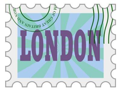 Naklejka wektorowe, znaczek pocztowy Londynu