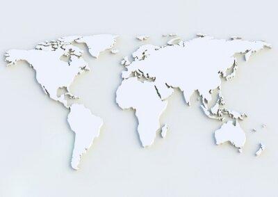 Naklejka Weltkarte 3D - 3D mapa świata