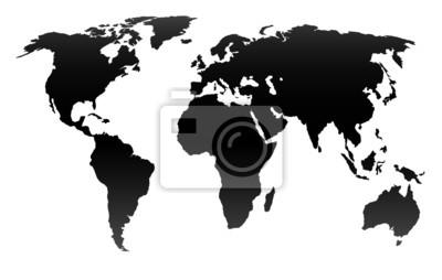 Weltkarte - Graphische Darstellung