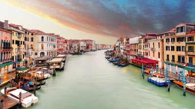 Naklejka Wenecja - Canal Grande od mostu Rialto