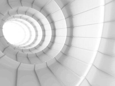 Naklejka White Abstract Tunnel wzór tła