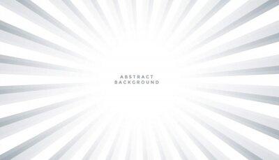 white background with sun rays burst design