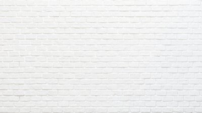 Naklejka White brick wall texture background for stone tile block painted in grey light color wallpaper modern interior and exterior and backdrop design