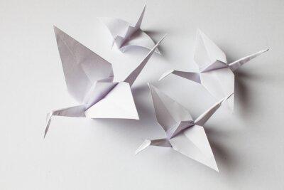 Naklejka White crane handmade