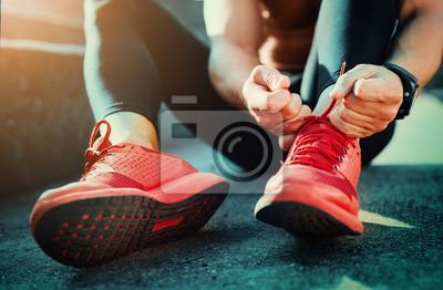 Naklejka Wiązania butów sportowych