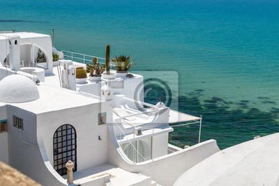 Naklejka Widok domy stara medina Hammamet, Tunezja