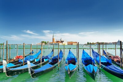 Naklejka Widok z gondoli na Lagunie Weneckiej, Wenecja, Włochy